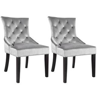 Chair in Soft Grey Velvet (Set of 2), Overstock.com