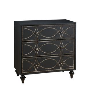 Christopher Knight Home Neutral Keeling Black Three Drawer Chest, Overstock.com