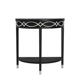 Elements Black and White Metal Demilune Table, Overstock.com