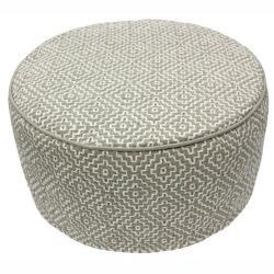 nuLOOM Handmade Casual Living Indian Diamond Taupe Round Pouf I Overstock.com