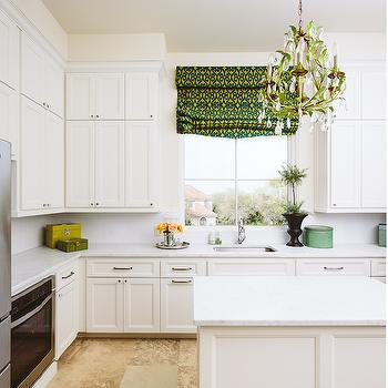 White Kitchen with Green Accents, Transitional, Kitchen, Matthew Niemann