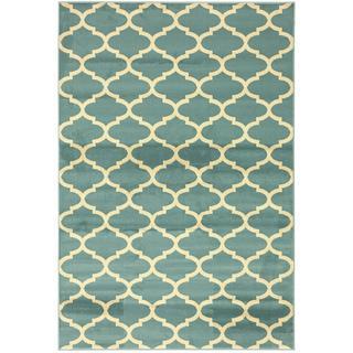 Moroccan Trellis Teal Area Rug (7'10 x 9'10), Overstock.com