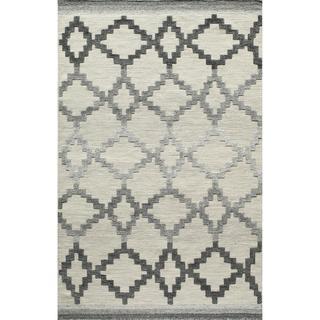Bohemian Texture Hand-woven Grey Geometric Rug (8' x 10'), Overstock.com