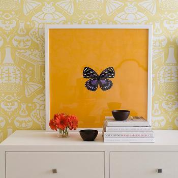 The Vase Wallpaper, Transitional, Girl's Room, J K Kling Associates