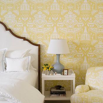 Clarence House The Vase Wallpaper, Transitional, Girl's Room, J K Kling Associates