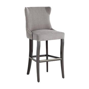 Sunpan Barbuda Grey Linen Bar Stool, Overstock.com Shopping, The Best Deals on Bar Stools
