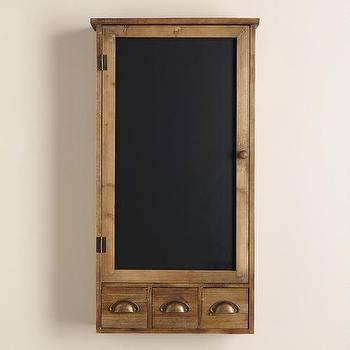Farmhouse Chalkboard Wall Cabinet