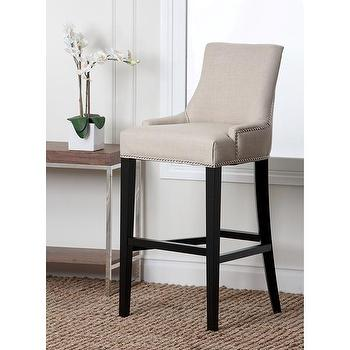 Abbyson Living Newport Off-white Fabric Nailhead Trim Bar Stool, Overstock.com Shopping, The Best Deals on Bar Stools