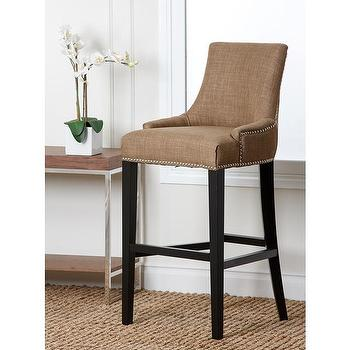 Abbyson Living Newport Gold Fabric Nailhead Trim Bar Stool, Overstock.com Shopping, The Best Deals on Bar Stools
