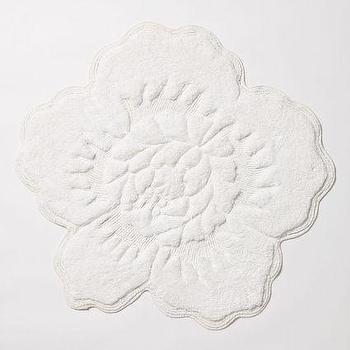 Castile Rose Bathmat, White Bathmat