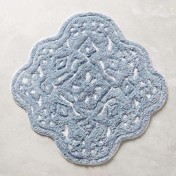 Mosaic Tile Bathmat, Blue Tile Bathmat