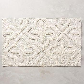 Shimmered Squares Bathmat, Natural Bathmat