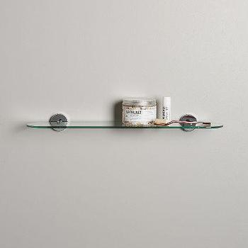 Bromley Floating Shelf, Glass Floating Shelf