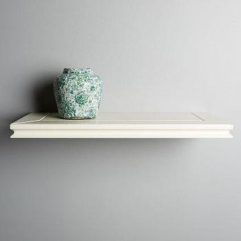 Whistler Floating Shelf, White Floating Shelf