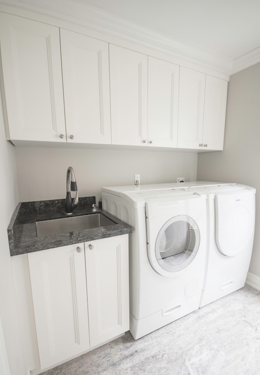 Black And White Laundry Rooms Transitional Laundry
