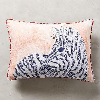 Biota Pillow, Zebra Print Pillow