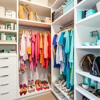 Closet with Shelves, Cottage, Closet, Coastal Style