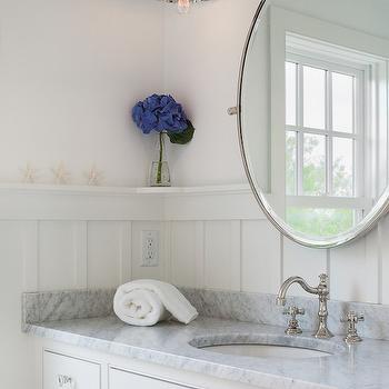 Bathroom with Board and Batten, Cottage, Bathroom, Sophie Metz Design