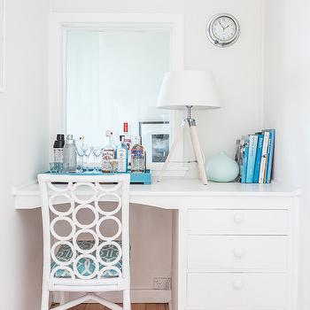 Built In Desk Nook, Cottage, Bedroom, Coastal Style