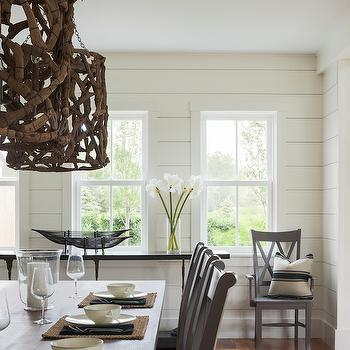 Driftwood Chandelier, Transitional, Dining Room, Sophie Metz Design