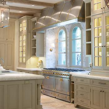 Tan Kitchen Cabinets, Transitional, Kitchen, Farrow and Ball Old White, Mobili Martini