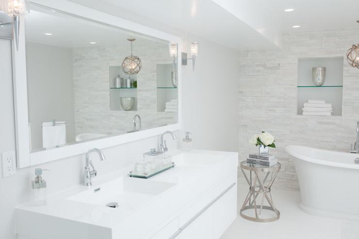 White Lacquered Bathroom Vanity Contemporary Bathroom