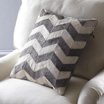 Chevron Cowhide Pillow Cover