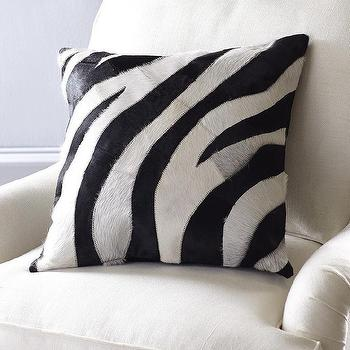 Zebra Cowhide Pillow Cover