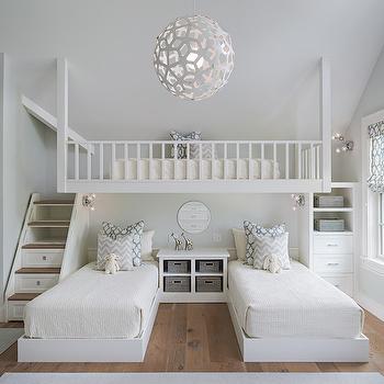 Loft Bed Ideas, Transitional, Girl's Room, Sophie Metz Design
