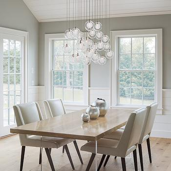 Wood and Lucite Dining Table, Transitional, Dining Room, Sophie Metz Design