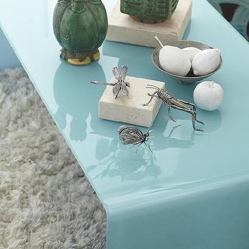 Waterfall Glass Coffee Table