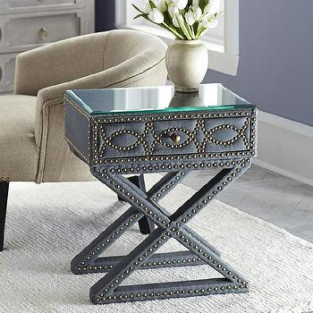 Hemicycle Nailhead Side Table