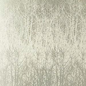 Schumacher Birches Ivory Silver Wallpaper