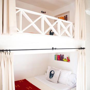 Bunk Bed with Curtains, Transitional, Boy's Room, Amy Berry Design