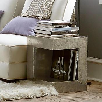 Hammered Metal Urban Side Table