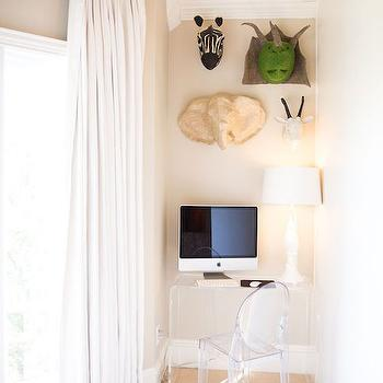 Kids Desk Nook, Transitional, Boy's Room, Amy Berry Design
