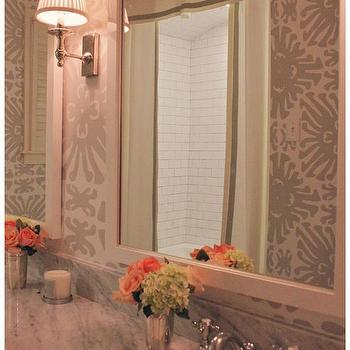Double Shower Curtains, Transitional, Bathroom, Amy Berry Design