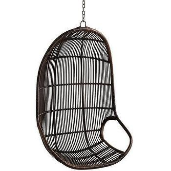 Dark Brown Willow Swing