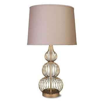 Goldtone Wire Snowman Metal Table Lamp