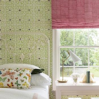 Pink and Green Kids Bedroom, Transitional, Girl's Room, Carrie Hatfield Interior Design