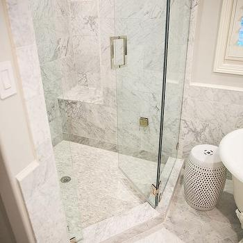 Corner Shower Ideas, Transitional, Bathroom, Amy Berry Design