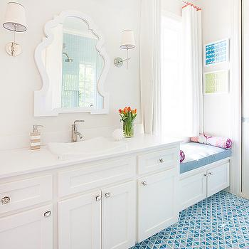 Kids Bathroom with Window Seat, Contemporary, Bathroom, Tracy Hardenburg Designs