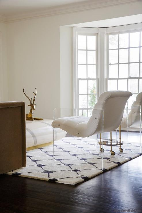 lucite accent chairs contemporary living room carrie