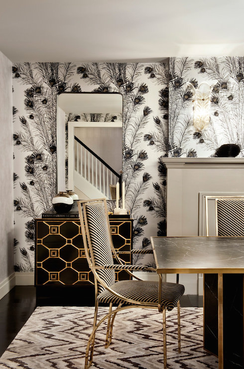 Florence Broadhurst Peacock Feathers Wallpaper Hollywood