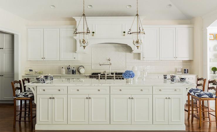 Extra Long Kitchen Island Transitional Kitchen