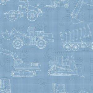 York CONSTRUCTION BLUEPRINT KS2352 Wallpaper