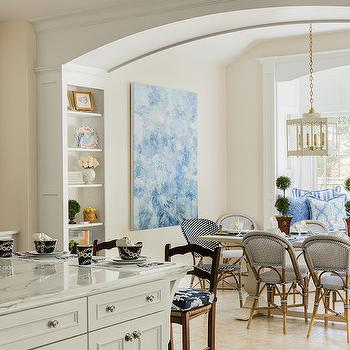 Window Seat Banquette, Transitional, Dining Room, Elizabeth Decor and Design