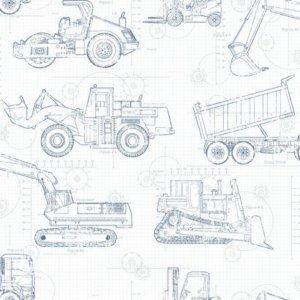 York CONSTRUCTION BLUEPRINT KS2350 Wallpaper