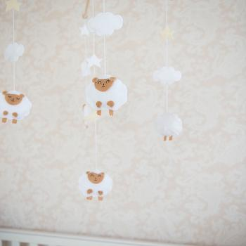 Nursery Sheep Mobile, Transitional, Nursery, Project Nursery