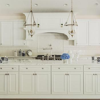Extra Long Kitchen Island, Transitional, Kitchen, Elizabeth Decor and Design